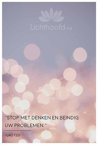 Stoppen met overdenken - Lichthoofd.be